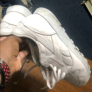 Reebok sneakers size 9 pale pink good condition